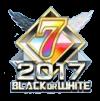 2017 BLACK OR WHITE 7位バッジ