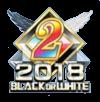 BLACK or WHITE 2018 2位バッジ