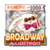 BROADWAY Act.1 DETROIT TOP1000バッジ