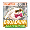 BROADWAY Act.3 NEW YORK TOP1000バッジ