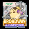 BROADWAY Act.3 NEW YORK イベントポイントバッジ